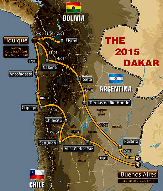 Chasin The 2015 Dakar Rally :: Dakar Motor Competitions - Dakar.