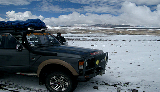 4WD on Nevado Mismi