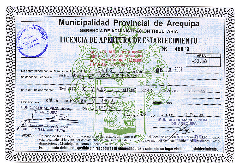 Operating Licence
