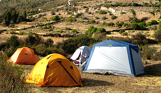 Camping In The Colca Canyon