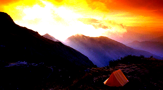 Good Morning In The Inca Trail Camp Site