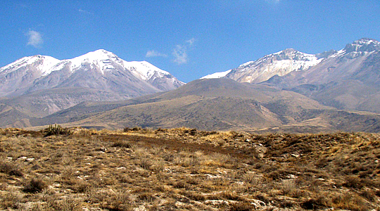 Chachani Mountain Near Of Arequipa