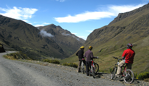 Bikers Seeing The Cloud Forest Of Peru