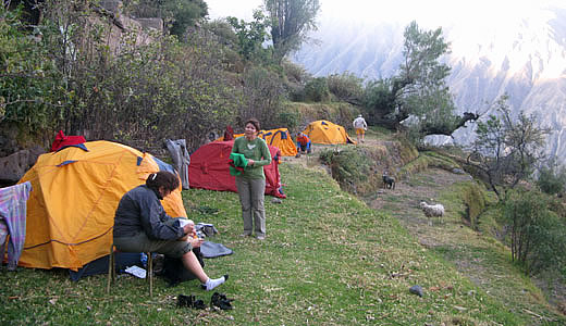 Camping in the Colca canyon - Colca Camping -  Colca Camp Site - Camping Colca Valley
