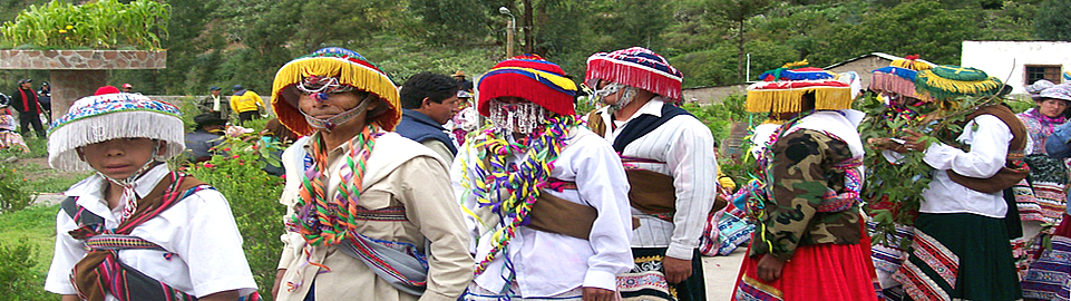 Typical Dancing Festival In The Colca Canyon