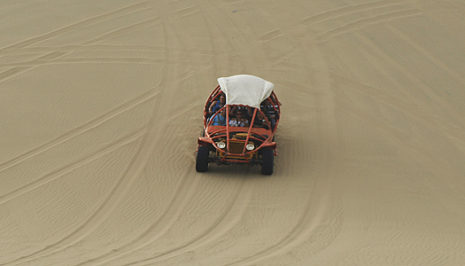 Downhill Buggy In Oasis La Huacachina