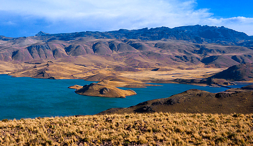 Lagunillas Lake - Andean Lagoons ont he way from Colca canyon to Puno