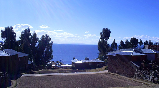 View Of Lake Titicaca From Amantani Island