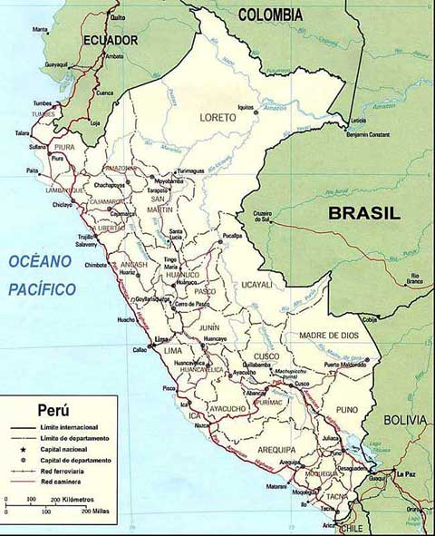 Peru Map Souht America Map Amzon Jungle Map Cusco Map - Road map of peru