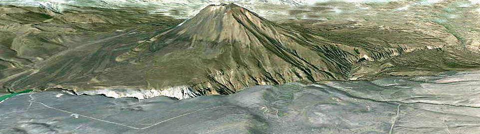 Satelite Picture Of Misti Volcano