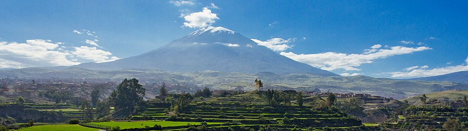 Misti Volcano View From Arequipa
