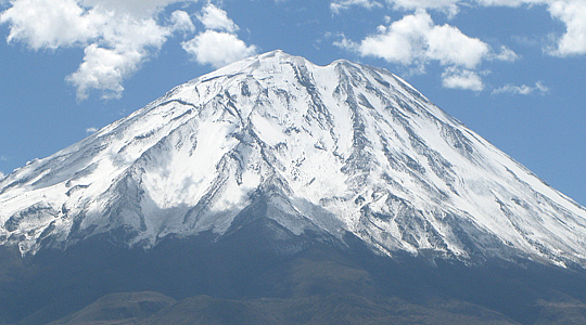 Conical Form Of Misti Volcano - Arequipa