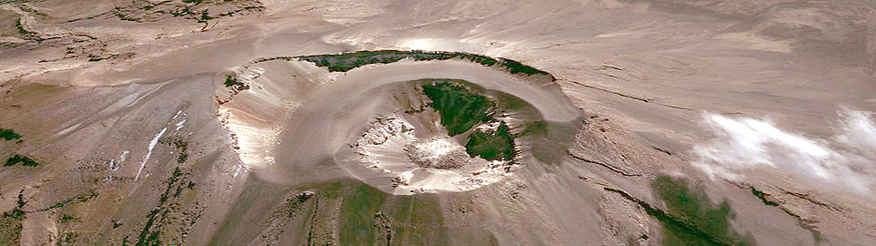 Crater Of Volcan Misti