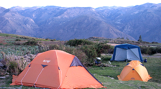 Camping On The Andes