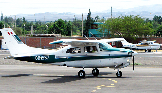 Cessna Light Plane In Nazca Peru