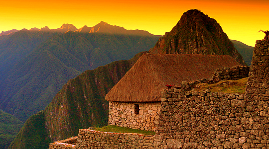 Sunrise Over Machu Picchu Ruins